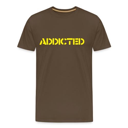 Addicted - Premium-T-shirt herr