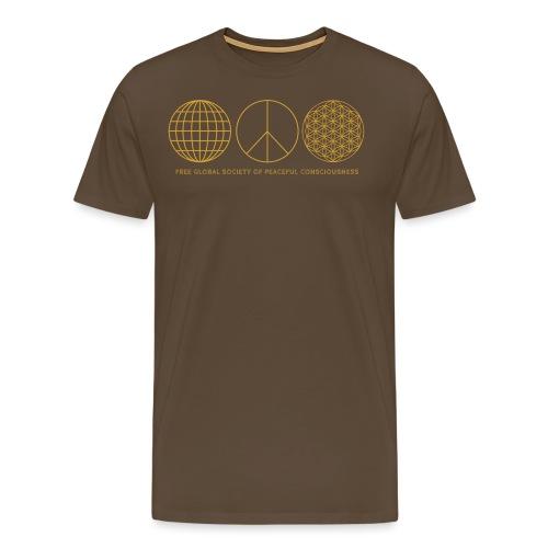 globalesfriedensbewusstsein2 png - Männer Premium T-Shirt