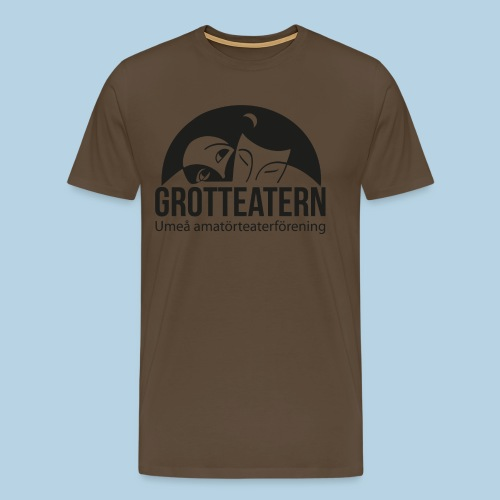 Grotteatern logo svart - Premium-T-shirt herr