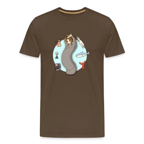 Hedipan sovsäck ooooh - Premium-T-shirt herr