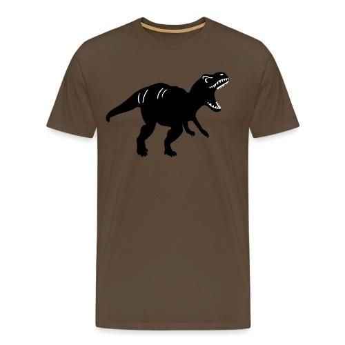 Dinosaurier T-Rex Grrrr vollfarbig - Männer Premium T-Shirt