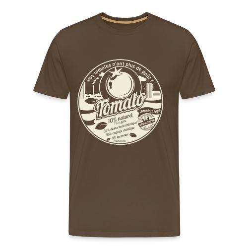 europabio tomato blanc - T-shirt Premium Homme