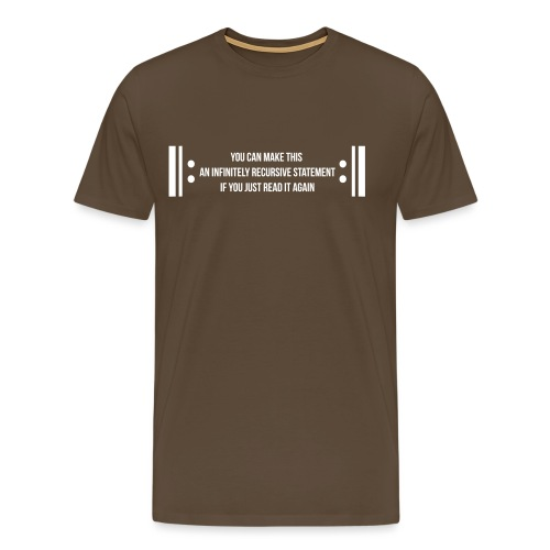 Infinite Recursion - Men's Premium T-Shirt