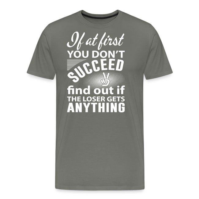 if you dont succeed