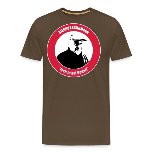 bierdurschdshirt 1 hodel rot kopie - Männer Premium T-Shirt