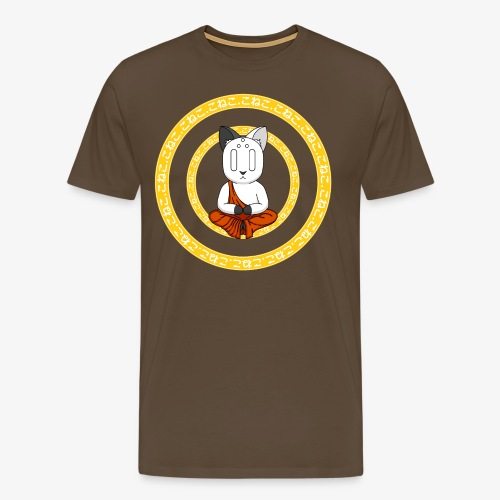 Buddh-cat Yellow - T-shirt Premium Homme