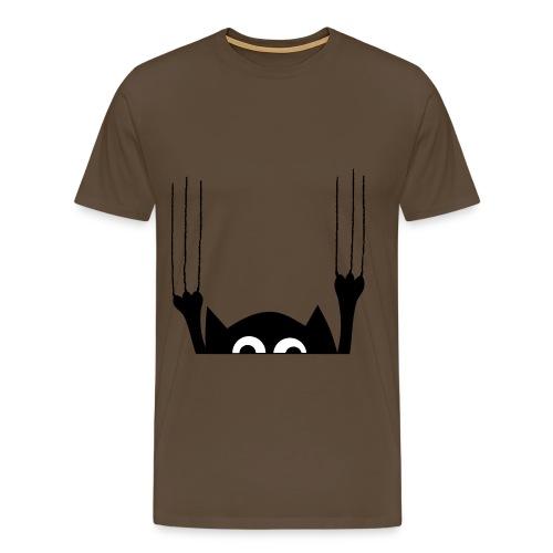 Katze Kratzspur - Männer Premium T-Shirt