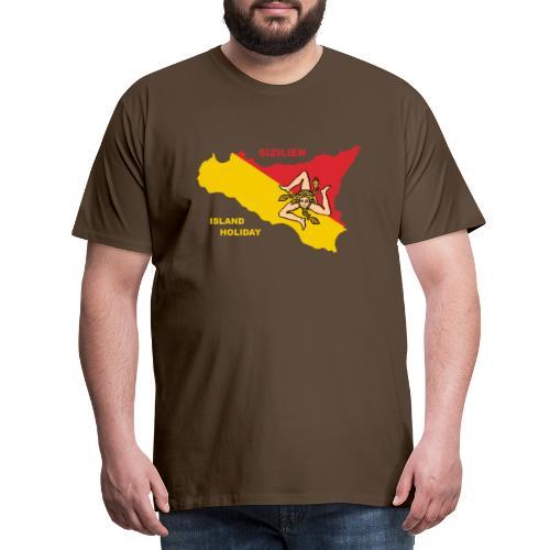 Sizilien Italien Holiday Sicily - Männer Premium T-Shirt