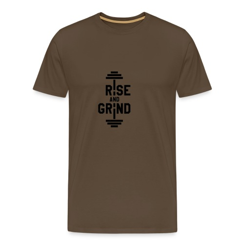 Rise and Grind - Premium T-skjorte for menn