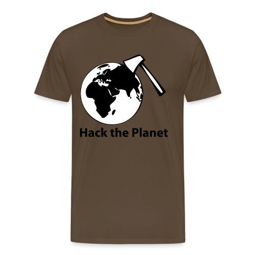 hack_the_planet_sw - Männer Premium T-Shirt