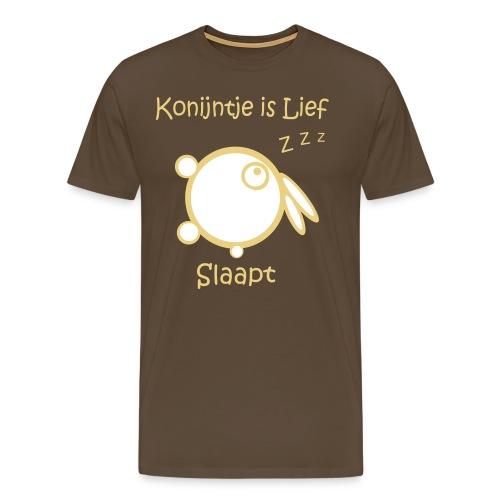 konijntje is lief slaapt - Mannen Premium T-shirt