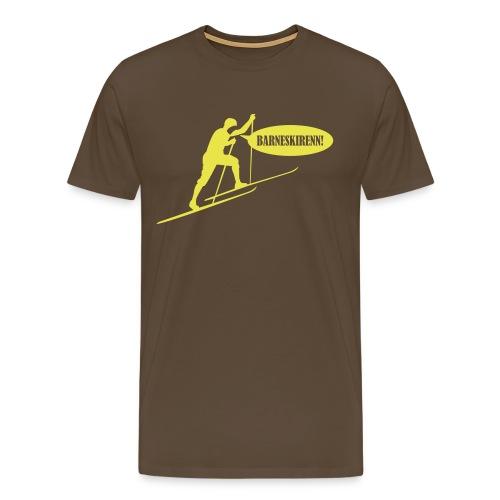 Barneskirenn hvit - Premium T-skjorte for menn
