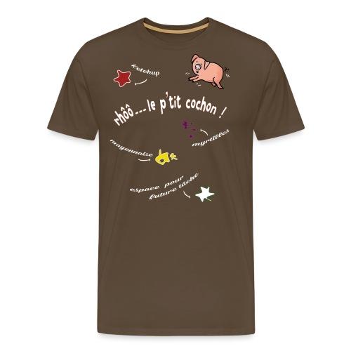 Rhoo le ptit cochon ! (version pour fond sombre) - T-shirt Premium Homme