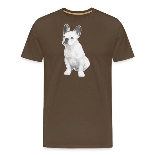 Logo french bulldog - Camiseta premium hombre