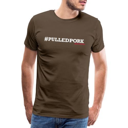 hashtag pulled pork op zw - Mannen Premium T-shirt