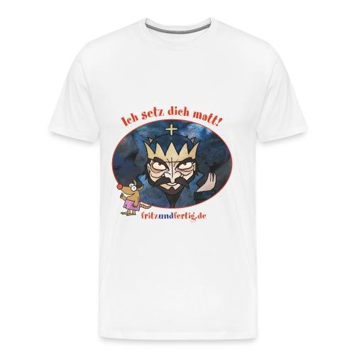 König Schwarz - Männer Premium T-Shirt