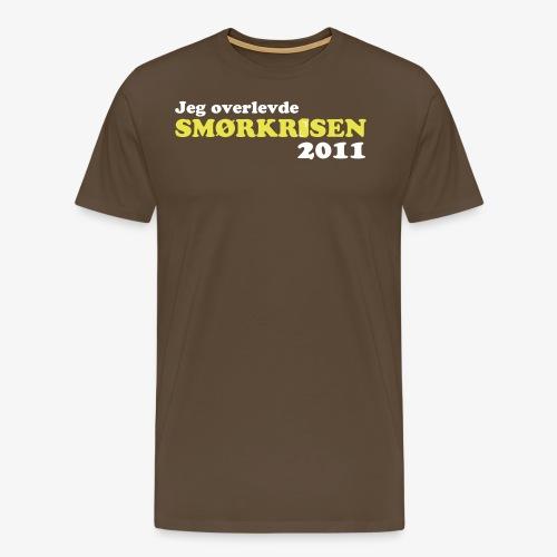 Smørkrise 2011 - Norsk - Premium T-skjorte for menn
