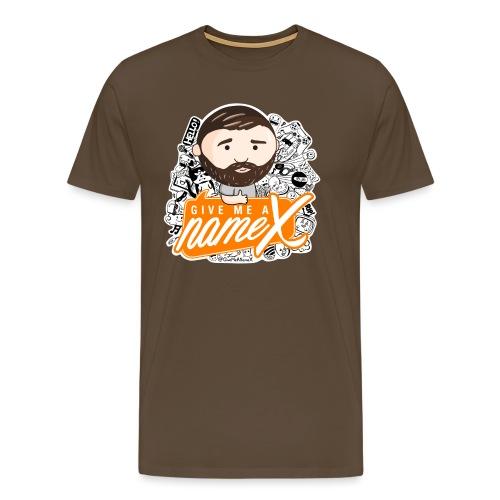 doodle orange 1 - Men's Premium T-Shirt
