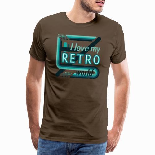 Retro world - Men's Premium T-Shirt