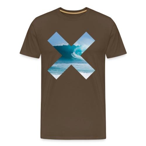 Wave X png - Premium-T-shirt herr