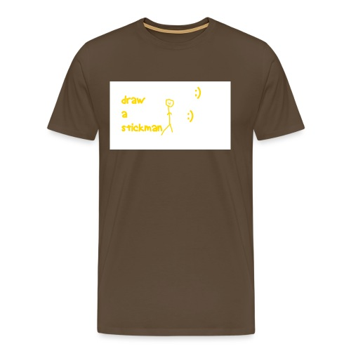 draw a stickman png - Men's Premium T-Shirt