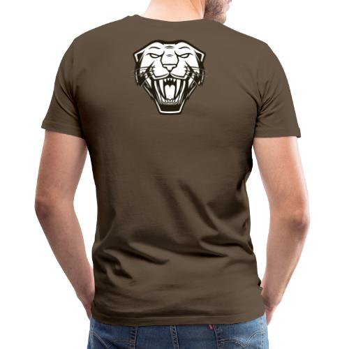 Psybearslat Panther (Back) - Men's Premium T-Shirt