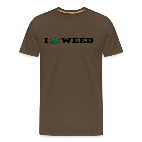 I LOVE WEED - Men's Premium T-Shirt