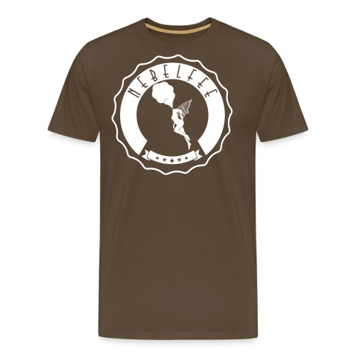 Nebelfee Street Logo weiß - Männer Premium T-Shirt