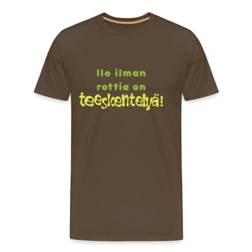Ilo ilman rottia - vihreä - Miesten premium t-paita