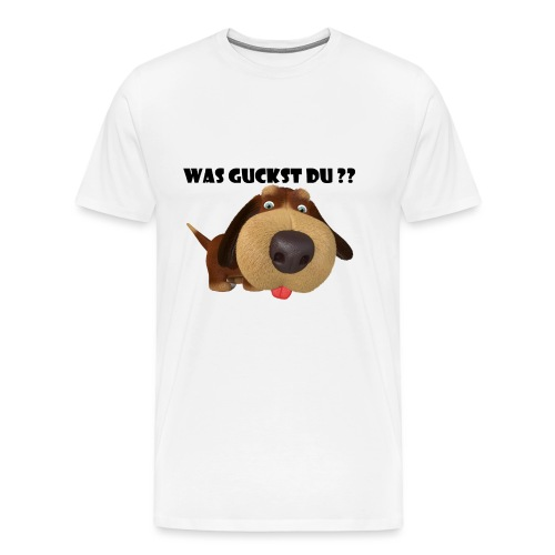 Was guckst du ? - Männer Premium T-Shirt
