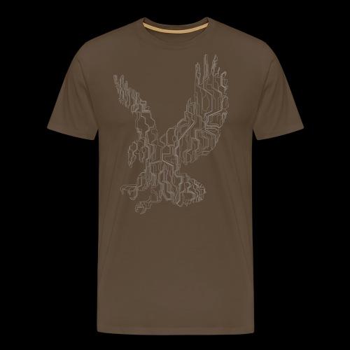 Circuit eagle White - Herre premium T-shirt