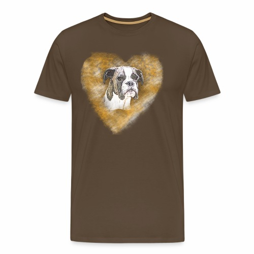 Boxer Portrait - Männer Premium T-Shirt