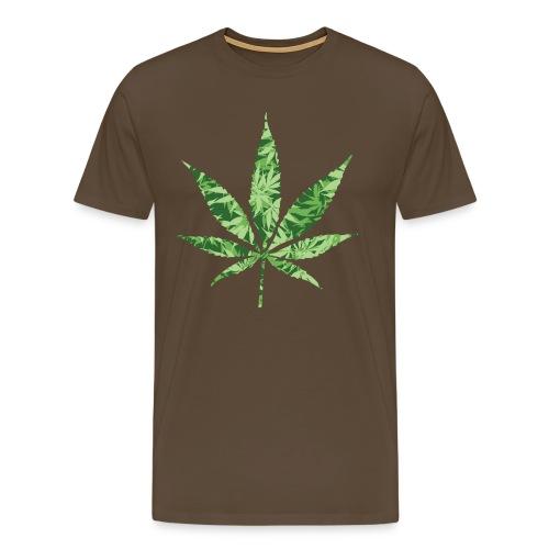 Weed Leaf - Mannen Premium T-shirt