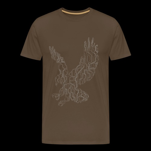 Circuit eagle White - Herre premium T-shirt
