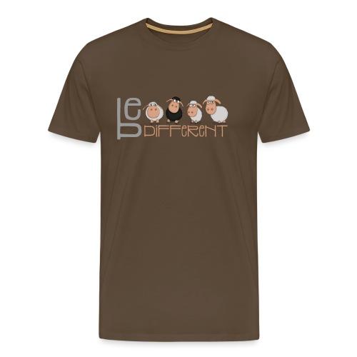 Kleine Be different Schafe - Einzigartig & anders - Männer Premium T-Shirt