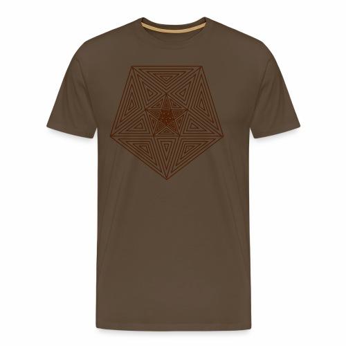 Pentagramm einfach - Männer Premium T-Shirt