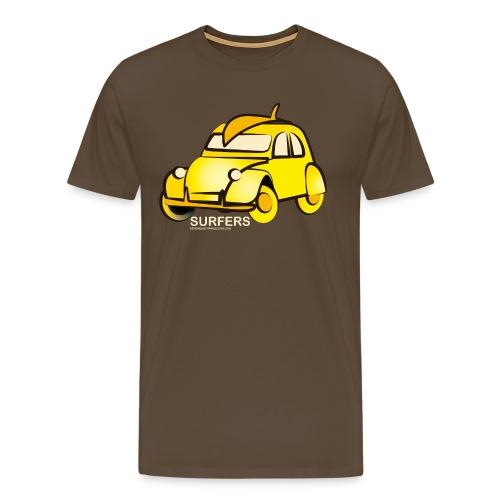 surferyellowcar0101 - Camiseta premium hombre