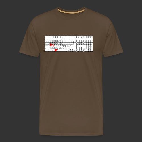 Bluttastatur - Männer Premium T-Shirt
