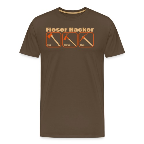 Fieser Hacker - Holz, Unkraut, Stein - Männer Premium T-Shirt