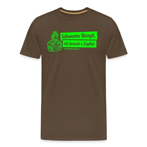 schwester biergit black outlines v2 - Männer Premium T-Shirt