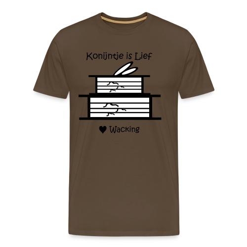 konijntje wacking - Mannen Premium T-shirt