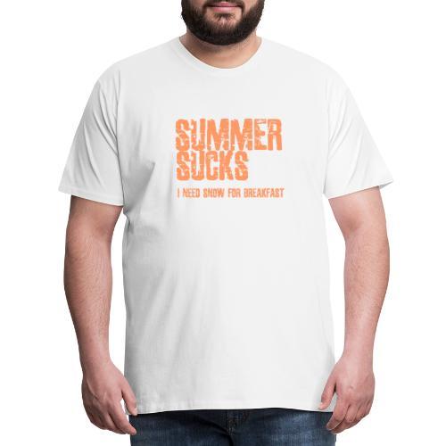 SUMMER SUCKS - Mannen Premium T-shirt