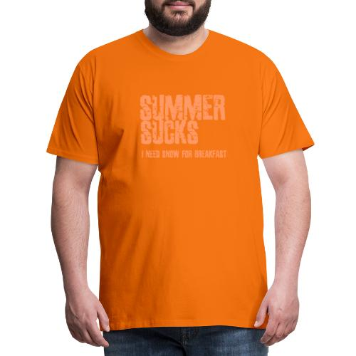 SUMMER SUCKS - Mannen Premium T-shirt