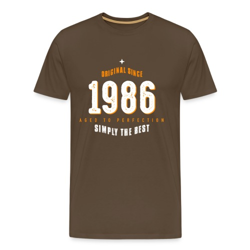 original since 1986 simply the best 30th birthday - Men's Premium T-Shirt