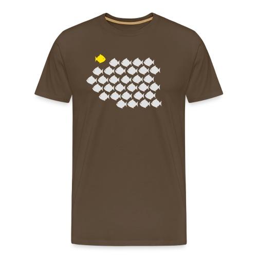 Verandervis - durf anders te zijn - Mannen Premium T-shirt