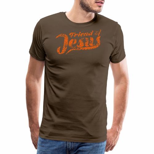 Friend of Jesus orange - Männer Premium T-Shirt