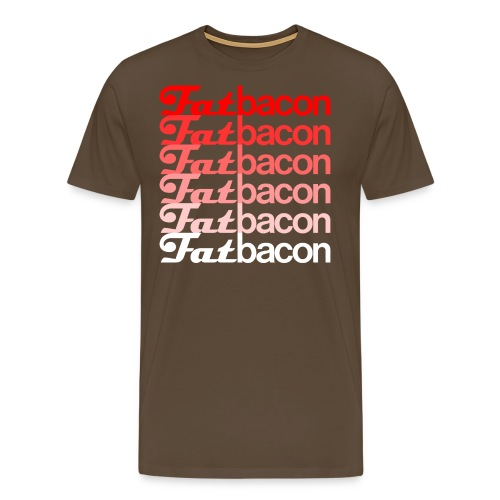 FatBaconlogo faded png - Men's Premium T-Shirt