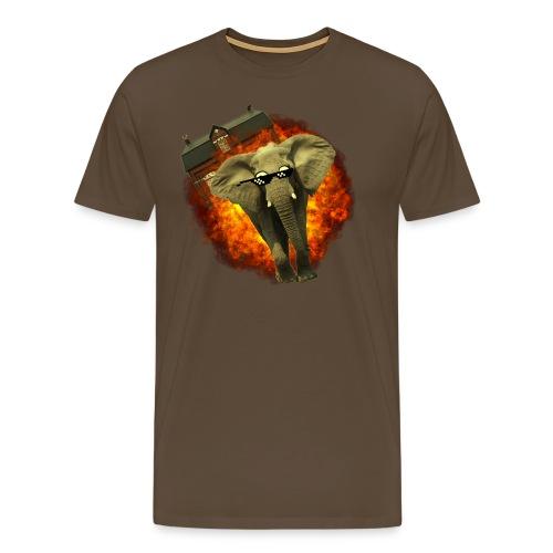 olifant op avontuur - Mannen Premium T-shirt
