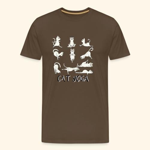 Katzen Yoga Fitness - Mantra - Karma - Miau - Cat - Männer Premium T-Shirt