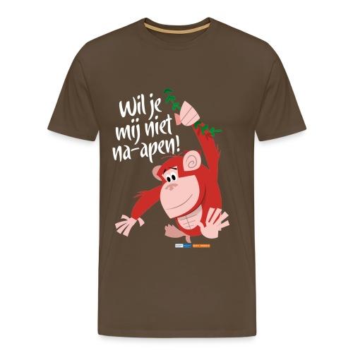 Wil je mij niet na-apen - Mannen Premium T-shirt